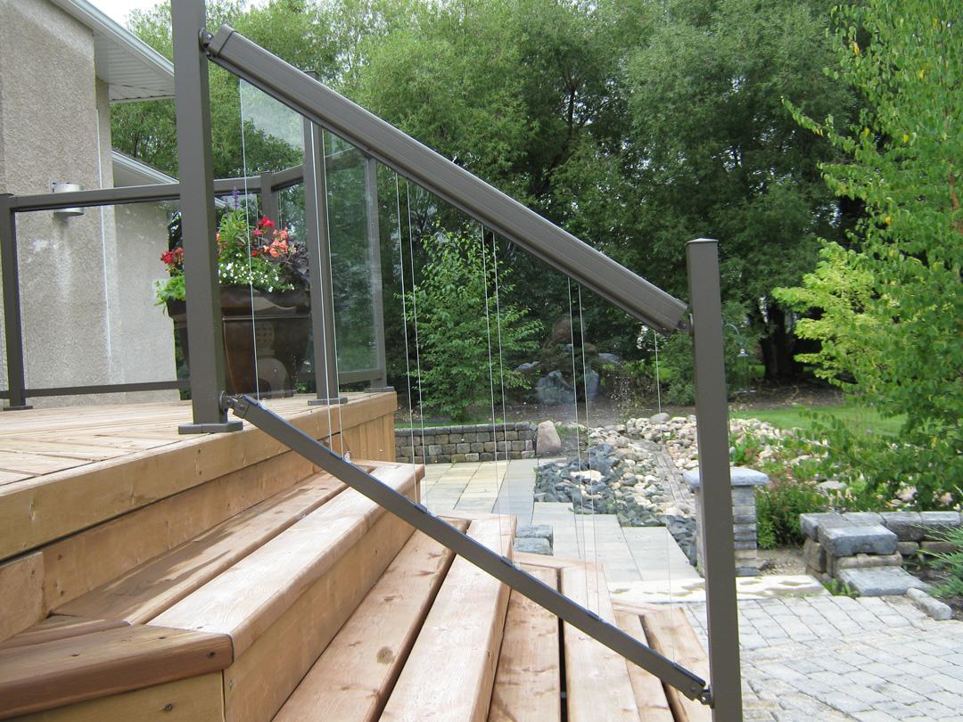 glass picket panels. Black Bedroom Furniture Sets. Home Design Ideas